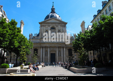 The Sorbonne in Paris - Stock Photo