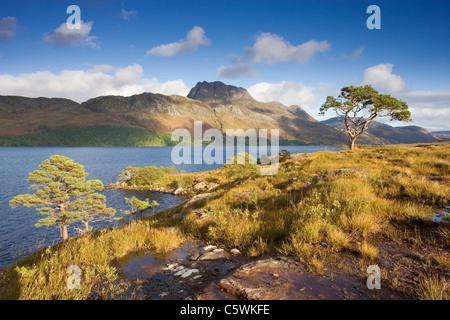 Loch Maree and Slioch, Scotland, Great Britain. - Stock Photo
