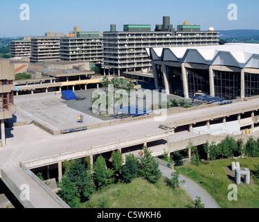 Audimax und Forum der Ruhruniversitaet in Bochum, Ruhrgebiet, Nordrhein-Westfalen - Stock Photo