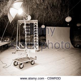 Professional photo studio - Stock Photo