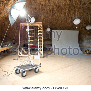 Professional photo studio - Stock Photo