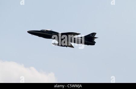 HAWKER HUNTER JET FIGHTER RAF DISPLAY TEAM VIPER 03 July 2011 - Stock Photo