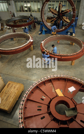 INDIA Daman Enercon India Ltd. production of generator for wind turbines - Stock Photo