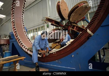 INDIA Daman Enercon India Ltd. production of generator for wind turbines - Stock Photo