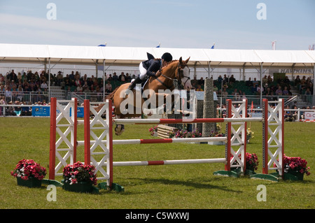 Sammie Jo Coffin on her way to victory at The Royal Cornwall Show 2011 Wadebridge Cornwall England UK - Stock Photo