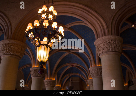 Antique lighting in the Biltmore Hotel - Stock Photo