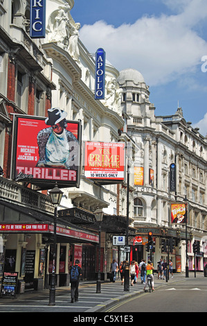 West End Theatres, Shaftesbury Avenue, Soho, West End, City of Westminster, Greater London, England, United Kingdom - Stock Photo