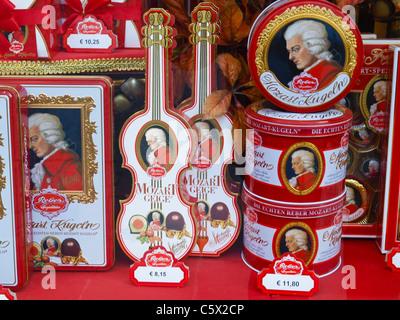 Salzburger Mozartkugel, Österreich, Salzburg, Salzburg Stadt - Stock Photo