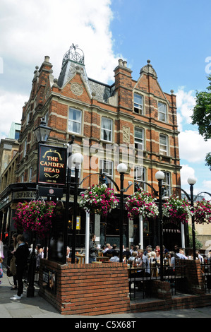 The Camden Head public house Camden Passage Islington London England UK - Stock Photo