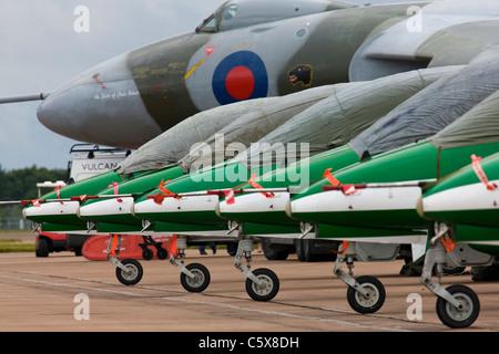 Saudi Hawks aerobatic display team - Stock Photo