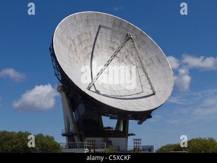Arthur the first parabolic dish antenna at Goonhilly Earth Station in Cornwall - Stock Photo