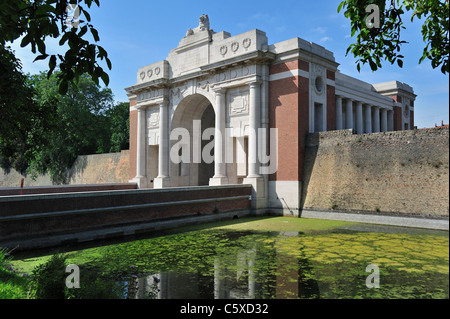Menin Gate Memorial to the Missing in commemoration of British and Commonwealth soldiers of First World War One, - Stock Photo
