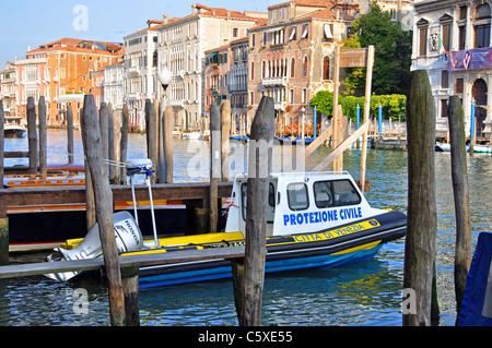 Police Boat Venice Italy Europe - Stock Photo