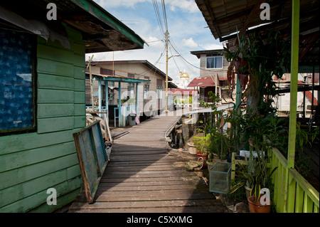 Kampong Ayer Water Village in Bandar Seri Begawan, Brunei - Stock Photo