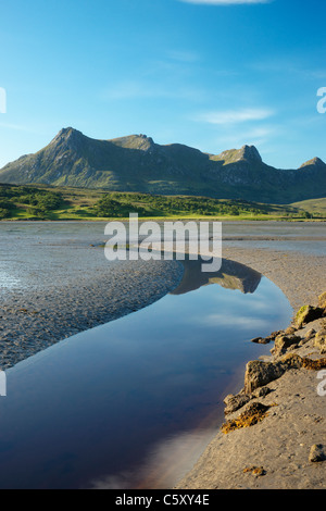 Ben Loyal and the Kyle of Tongue, near Tongue, Sutherland, Highland, Scotland, UK. - Stock Photo