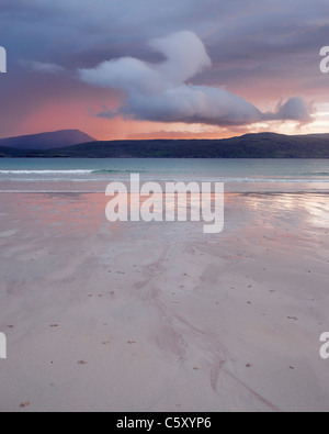 Cloud above Balnakiel Bay, near Durness, Sutherland, Highland, Scotland, UK. - Stock Photo
