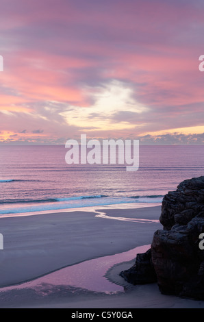 Sunset over Sandwood Bay, Sutherland, Highland, Scotland, UK. - Stock Photo