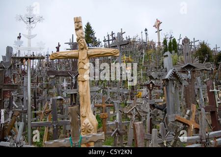 Hill of Crosses, Siauliai, Lithuania - Stock Photo
