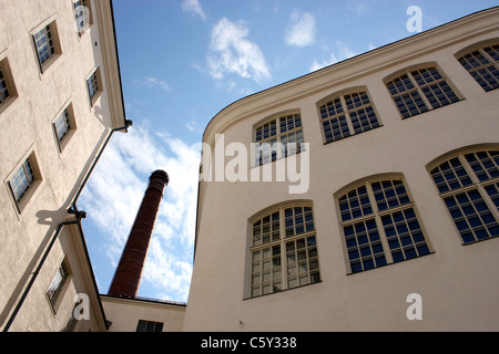 Old factory buildings at Finlayson district Tampere, Finland - Stock Photo