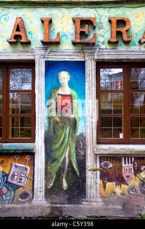 Art Gallery, Uzupis, Vilnius, Lithuania - Stock Photo