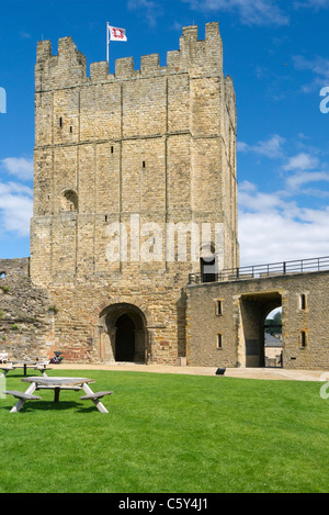 The Keep of historic Richmond Castle North Yorkshire - Stock Photo