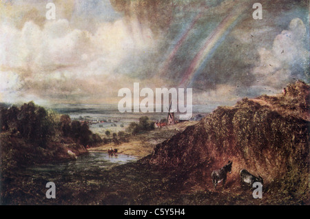 Painting by John Constable; 1776-1837; 'Hampstead Heath', painted 1824; English School; Oil on Canvas - Stock Photo