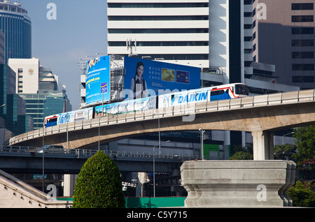 The Skytrain in Bangkok, Thailand - Stock Photo