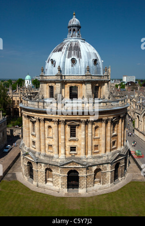 Radcliffe Camera viewed from St. Mary's tower in Oxford, UK. Stock Photo