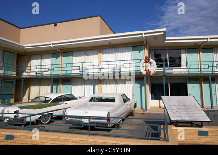 lorraine hotel site of the murder of martin luther king now the national civil rights museum memphis tennessee usa