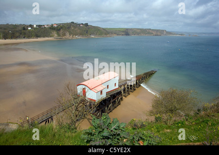 The old lifeboat station, Tenby, Pembrokeshire, Wales, UK - Stock Photo