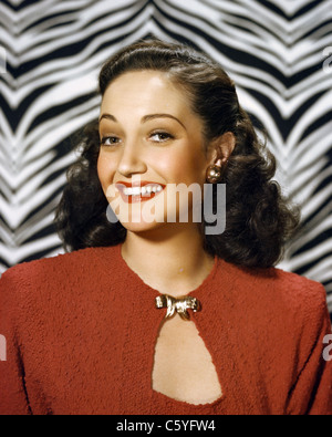 DOROTHY LAMOUR (1914-1996) US film actress about 1950 - Stock Photo