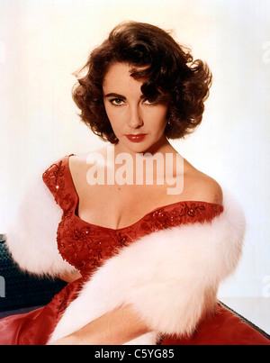ELIZABETH TAYLOR (1932-2011) British-American film actress about 1956 - Stock Photo