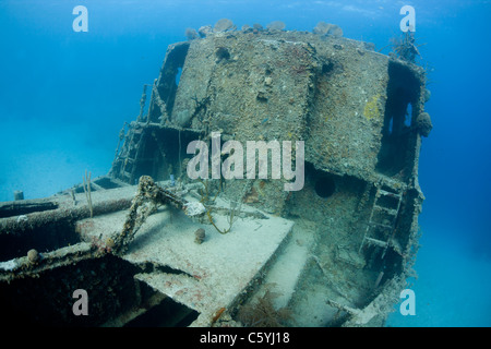 The Prince Albert wreck off the island of Roatan, Honduras. - Stock Photo