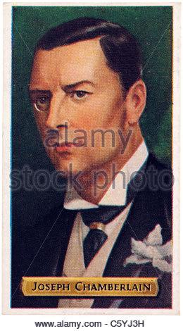 Joseph Chamberlain 1836-1914, British Politician and Statesman. EDITORIAL ONLY - Stock Photo