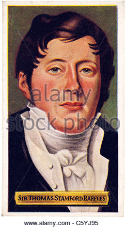 Sir Thomas Stamford Raffles 1781 to 1826 , British Statesman, founder of Singapore. EDITORIAL ONLY - Stock Photo