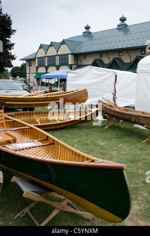 Annual antique boat show, oldest in USA, Antique Boat Museum Clayton New York Thousand Islands Region - Stock Photo