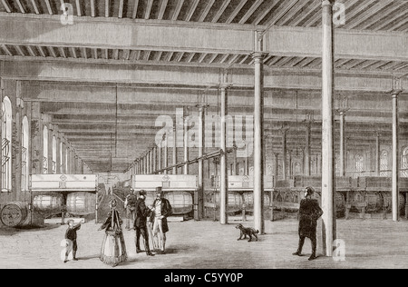 Samuel Allsopp & Sons Brewery in Burton-on-Trent, England in the 1860's. - Stock Photo