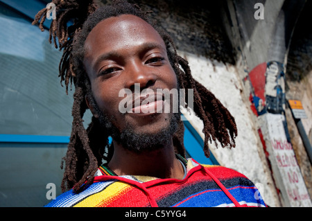 Young Rastafarian man in Brixton - Stock Photo