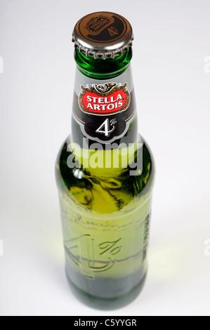 Stella Artois 4% beer - Stock Photo