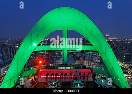 Red Sky Rooftop Bar at Centara Grands Bangkok , Thailand - Stock Photo