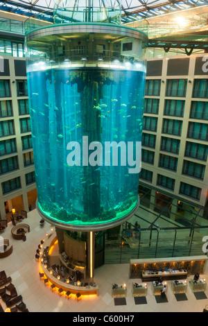 Aqua Dome at Radisson Blu Hotel, Berlin - Stock Photo