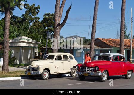 Oldtimer in Viñales Cuba, Province Pinar del Rio, - Stock Photo