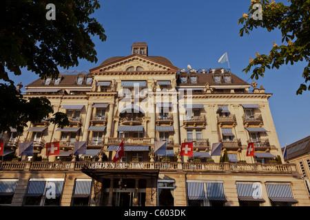 Switzerland Zuerich, Hotel Eden au Lac, near Zurich lake promande - Stock Photo