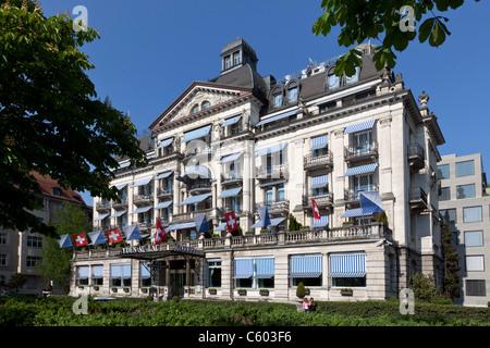 Switzerland Zurich, Hotel Eden au Lac, near Zurich lake promande - Stock Photo