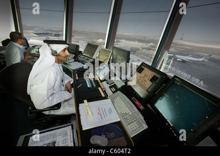 Abu Dhabi Airport Control Tower - Stock Photo