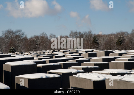 Holocaust memorial for the murdered jews during second world war, Berlin, Germany. - Stock Photo