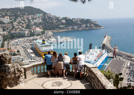 View from Chateau, Nice, France - Stock Photo