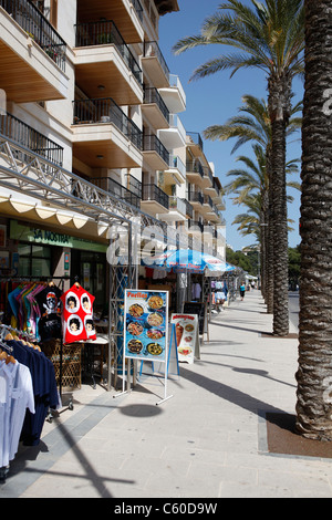 Giftshops in Porto Cristo,Mallorca,Spain - Stock Photo