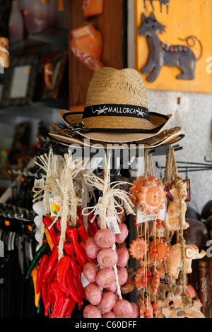 Souvenir shop in Porto Cristo, Mallorca,Spain. - Stock Photo
