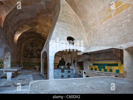Italy,Cilento, Padula, the kitchens of the Certosa of San Lorenzo - Stock Photo